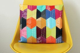 Patch it – farbenfrohes Patchwork-Kissen