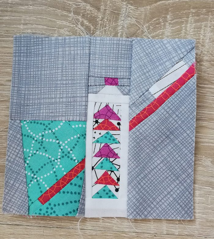 minty fresh paper piecing quilt block
