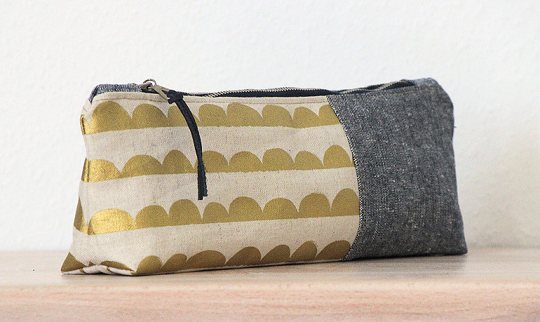 Stiftemäppchen, canvas pencil pouch